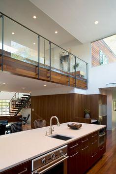 Glass railing--Alterstudio  Ave G residence