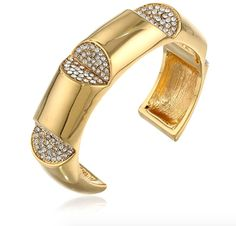b9d38069cbdc7 Gold Plated Crystal Cut-Out Cuff Bracelet Cute Bracelets