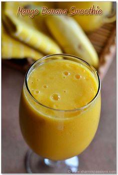 Mango Banana Smoothie | Cooking Recipe Central reduce weight detox