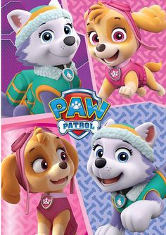 Manta Patrulla Canina. Cachorras 100 x 150 cm  Mata polar fabricada en 100% poliéster con medida de 100x150cm basada en la serie de tv Patrulla Canina.