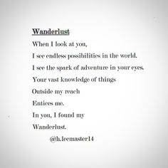Wanderlust. @h.leemaster14