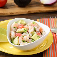 Shrimp and Avocado Ceviche for #HolidayFoodParty I didn't put all the jalepeno and serrano pepper in it. And it has way too much lemon and lime juice. It is good with some added salt and pepper, drained, and served over a bed of Quinoa.  BLaBore 8/25/13