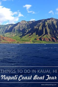Top things to do in Kauai Hawaii — Kauai Napali Coast boat tour / Na Pali Coast sunset cruise Kauai Hawaii, Hawaii Vacation, Oahu, Vacation Trips, Italy Vacation, Vacation Travel, Napali Coast Kauai, Fiji Islands, Cook Islands