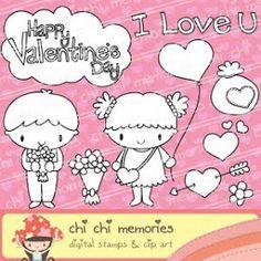 Chi Chi Memories Digital stamps - Happy Valentine's Day!