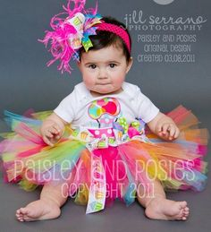 Bubbly Bright Birthday Set for Baby Toddler by paisleyandposies