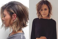 Actually, when you have the thin hair texture, layers are the only way to survive. In a word, layered bob haircuts are what you need.
