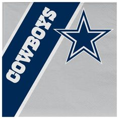 Complete your picnic or tailgate party with this pack of 20 disposable napkins. This pack of officially licensed NFL napkins features your favorite teams logos and colors. The napkins are inches in size. Each pack includes 20 napkins. Napkins Set, Paper Napkins, Dallas Cowboys Party, Lifetime Basketball Hoop, Basketball Tickets, Uk Basketball, Nba Merchandise, Star Background, Cowboy Party