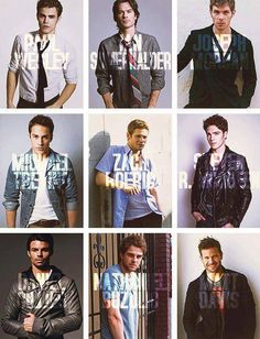 So much beauty in one picture!! My favorites are Ian Somerhalder, Nathaniel Buzolic, Joseph Morgan and Paul Weasley