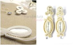 long soutache earrings, hand made by Manufaktura Charlie