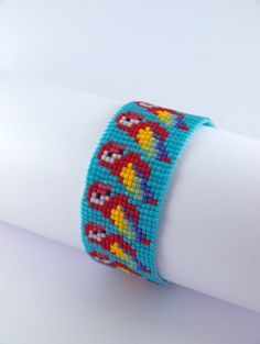 Etsy - Shop for handmade, vintage, custom, and unique gifts for everyone Bead Loom Designs, Bead Loom Patterns, Beaded Jewelry Patterns, Beading Patterns, Loom Bands, Bead Loom Bracelets, Alpha Patterns, Beaded Rings, Plastic Canvas Patterns
