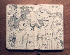 Jared Muralt nos enseña sus libretas de bocetos y son una pasada, nos dan mucha envidia, no solo por lo original de las ilustraciones (que también) sino por la pulcritud con la que trabaja. Si qu…