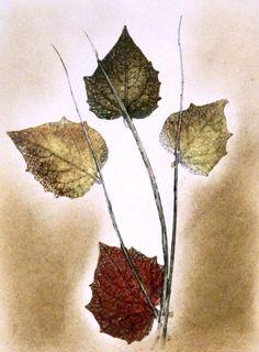 Botanische Kunst. Original stich. Kunst IV. von PaperArcsArt auf DaWanda.com