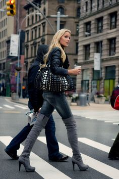 knee high boots  -  Have the presence of a model, even if you don't look like one! Click the pic...