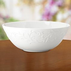 Opal Innocence Carved Large Serving Bowl by Lenox