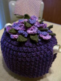 Ravelry: Floral Knitted Tea Cosy from 1937 pattern by Madame Weigel