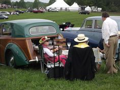 Elegant tailgating at horse racing events.