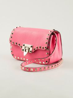 c93e5692b2 Valentino Rockstud Mini Cross Body Bag in Pink (pink & purple) - Lyst  Valentino