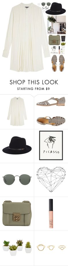 """""""Our heart is all we've got."""" by biljanamilenkovic ❤ liked on Polyvore featuring Ralph Lauren, Church's, rag & bone, Ray-Ban, Chloé, NARS Cosmetics, Wedgwood, Room Essentials and Maria Black"""