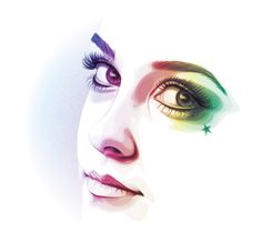 In today's tutorial, I'm going to show you how I created a simple, rainbow colored portrait using a stock image base in Adobe Illustrator. I'll be adding subtle decoration to the portrait with the...
