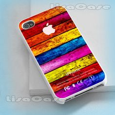Colourfull Wood, iPhone case, iPhone 4/4S case, iPhone 5 Case, Samsung GAlaxy S3/S4 Case, Photo prind hard Plastic on Wanelo