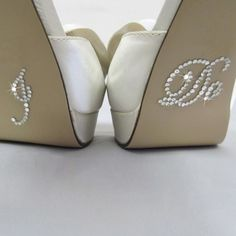 Exclusively Weddings   I-Do Shoe Stickers in Script