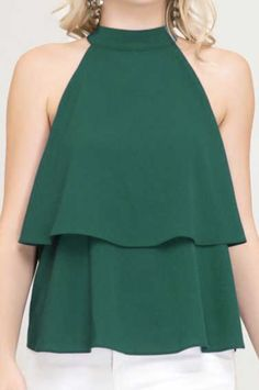 cb03e3b26 This emerald green top is perfect for the holiday season! Pair it with some  black