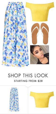 """""""Floral💙💛"""" by brooklynqueen04 ❤ liked on Polyvore featuring Alexander Terekhov, Miss Selfridge and Charlotte Russe"""