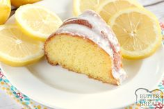 Easy Lemon Cake is made with only 4 ingredients and topped with a simple lemon glaze. There is lemon-lime soda in the cake and the glaze, making this easy lemon cake a light and refreshing dessert! Lemon Buttermilk Pound Cake, Lemon Bundt Cake, Lemon Cake Mixes, Bundt Cakes, Lemon Dessert Recipes, Pound Cake Recipes, Fudge Recipes, Easy Cake Recipes, Lemon Glaze Cake