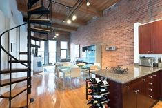 Chicago Loft. Decor Is Too Modern For Me But The Space Is Amazing