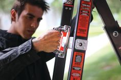 Ladder Safety Hub - Ladder safety tips and stories Little Giants, Fire Extinguisher, Get The Job, Ladder, Safety, Tips, Security Guard, Stairway