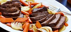 Stout Pot Roast --- Any dark, malty beer will work wonderfully in this recipe. If you don't have chuck roast on hand feel free to use any well marbled pot roast with a fat cap . Beef Stock Recipes, Pot Roast Recipes, Cooking Recipes, Cooking With Beer, Beef Dishes, Stuffed Mushrooms, Yummy Food, Favorite Recipes, Yummy Recipes