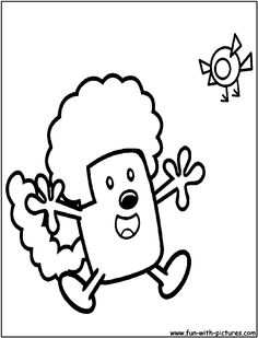 the wubb girlz coloring pages - photo#48