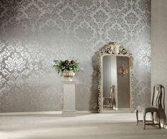 Behang en spiegel combinatie
