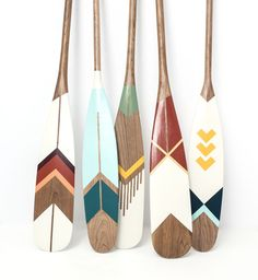 NORQUAY Co. was founded by a camping enthusiast obsessed with the great outdoors and for equally great design. Creators of quality handmade goods designed for life outdoors. Painted Oars, Hand Painted, Rowing Oars, Oar Decor, Beach House Decor, Canadian Art, Bunt, Craft Projects, Arts And Crafts