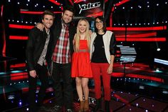 The final 3 of the Voice! I guessed right! Now I don't really care who wins b/c they're all really good!