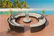 www.customwicker.com Cassandra Round Bronze Wicker Viro Fiber Sectional Outdoor Wicker Patio Furniture 17
