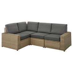 Create a customised sofa with SOLLERÖN modular sections. Use the stool as an extra seat or comfortable extension of your modular sofa. Maintenance-free plastic rattan gives you more time to enjoy. Outdoor Sofa, Ikea Outdoor, Outdoor Seating, Outdoor Furniture, Outdoor Decor, Garden Furniture, Modular Corner Sofa, Modular Sofa, Recycling Facility