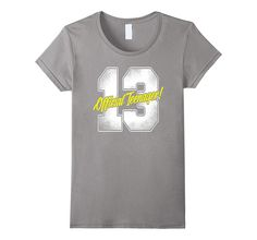Official Teenager Tshirt 13th 13 Year Old Birthday Party Tee