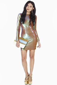 d9969d6ea88 unique-prom-dresses-nastygal-holographic-long-sleeve-dress-