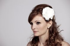 UpcycledSilk Handmade Blossoms in Ivory by RosalindGraceDesigns, $65.00