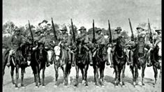 """Men from the South Australian (Mounted Rifles) Contingent, who fought in the Boer War. Third from left is Trooper Harry """"The Breaker"""" Morant. South Africa, c. AWM Australia and the Boer War, Military Photos, Military History, The Breakers, Beautiful Songs, British Army, African History, First World, World War, South Africa"""