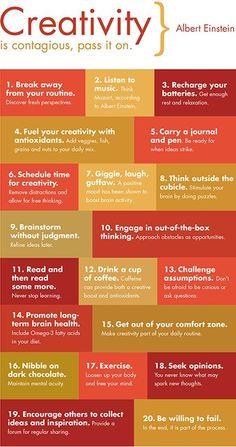 #Inspiración Claves para despertar y desarrollar su creatividad. #Infografía
