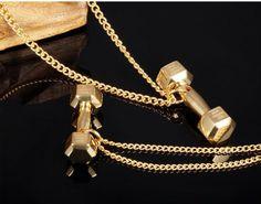 Dumbbell Pendant Necklace