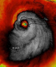 Hurricane Matthew. Creepiest weather photo ever.