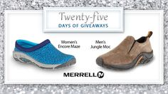 Merrell footwear is designed using a wide range of innovate technologies such as M-Select MOVE and Q-Form®. Try these technologies & more in a pair of your own Merrell shoes. Enter to win here. #25DaysofGiveaways