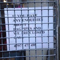 Bagpipe hotline