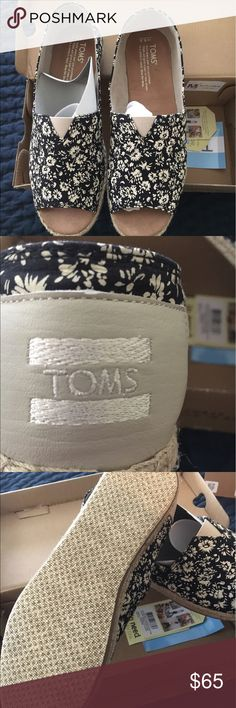 TOMS BRAND OPEN TOE SHOES New still in original packaging /box TOMS Shoes Espadrilles
