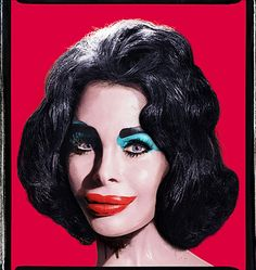David LaChapelle, Amanda As Andy Warhol's Liz photo malesoulmakeup.wordpress.com