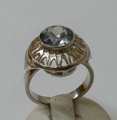 Vintage Halsschmuck - Jugendstil Ring Silber 800 Vintage antik alt SR496 - ein Designerstück von Atelier-Regina bei DaWanda