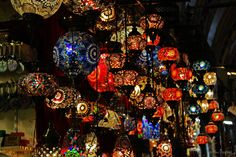 Colorful Lamps in Istanbul by Anna  Krützfeldt